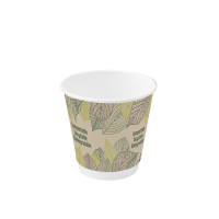 Vaso de cartón con doble capa 120ml Ø62mm  H60mm
