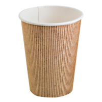 """Nature"" PLA cardboard cup  230ml Ø80mm  H92mm"