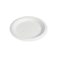 White round moulded sugarcane fibre plate 0ml   H10mm
