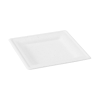 Plato blanco rectangular de pulpa  180x180mm H15mm