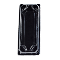 """""""Suky"""" black PET sushi tray with clear lid  225x95mm H40mm"""