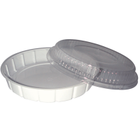 Plastic PS salade schaal rond wit 600ml Ø210mm  H30mm