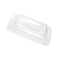 Clear PET plastic dome lid  195x195mm H30mm