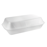 White EPS clamshell  160x240mm H75mm