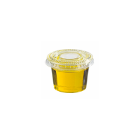 Clear round PET plastic portion cup 40ml 65mm  H28mm