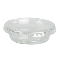 Pot plastique PET transparent rond