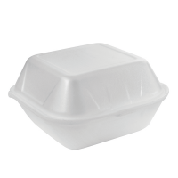 White EPS clamshell  135x125mm H70mm