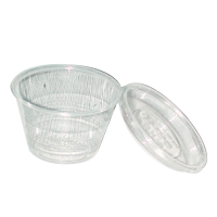 Clear round PET plastic portion cup 150ml Ø74mm  H60mm