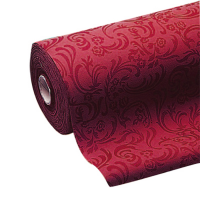 Non-woven burgundy tablecloth roll  50000x1200mm