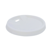 White PS plastic coffee cup lid with hole 0ml 62mm