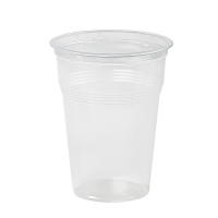 Clear PP plastic cup 325ml 75mm  H120mm