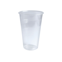 Clear PP plastic cup 330ml Ø80mm  H119mm