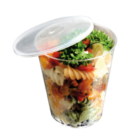 Clear round PS plastic cup 390ml 95mm  H82,5mm