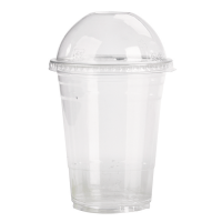 Clear PET plastic cup 350ml 77mm  H122mm