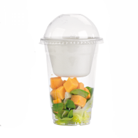 Clear PET plastic cup 550ml 95mm  H150mm