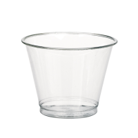 Clear PET plastic cup 200ml 77mm  H74mm