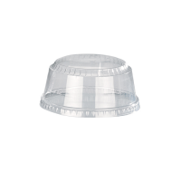 Clear PET plastic dome lid  Ø98mm