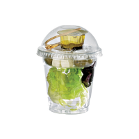 Clear PET plastic cup 300ml 84mm  H85mm