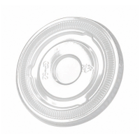 Clear PET plastic flat lid  Ø92mm  H8mm