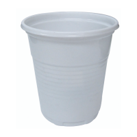 White PS plastic cup 100ml Ø55mm  H55mm