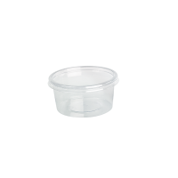 Round transparent PET Deli container with flat lid 0ml 8mm  H50mm