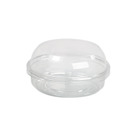 Round transparent PET Deli container with dome lid 125ml Ø100mm  H48mm