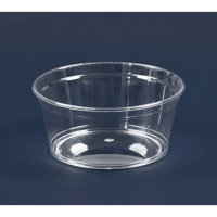 """""""Cristal"""" round clear PS plastic cup 225ml 104mm  H47mm"""