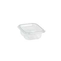 Rectangular clear PET box with hinged lid 2000ml   H25mm