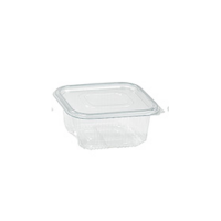 Ensaladera transparente PET con tapa bisagra 1 000ml 195x130mm H65mm