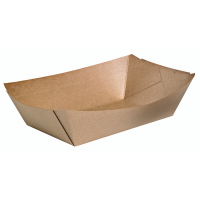 Natural greaseproof kraft tray 100ml 115x80mm H20mm