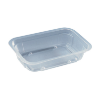 Kunststof container magnetronproof 250ml 137x95mm H30mm