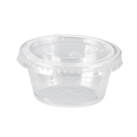 Plastic PET pot met plastic PET plat deksel 75ml Ø62mm  H45mm