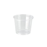 Clear PET plastic cup 120ml 74mm  H70mm