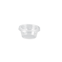 Plastic PET pot doorzichtig  60ml Ø62mm  H32mm