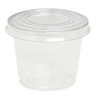 Clear PET plastic cup with dome lid with hole 150ml 74mm  H85mm