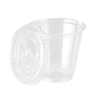 Clear PET plastic cup with flat lid 60ml 62mm  H70mm