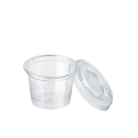 Plastic PET pot met plat deskel 40ml Ø45mm  H40mm