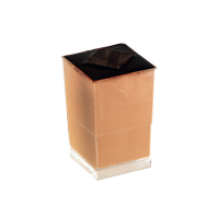 "Verrine plastique PS transparent carrée ""Quadra"""
