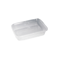 Clear rectangular PP plastic box with lid 35ml   H74mm