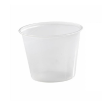 Plastic PS pot doorzichtig rond 150ml Ø74mm  H59mm