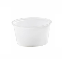 Translucent round PS plastic portion cup 80ml 74mm  H44mm