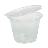 Plastic pot PP met vast deksel 50ml Ø60mm  H33mm