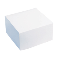White cardboard pastry box  160x160mm H80mm