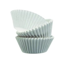 Round white greaseproof paper baking case 0ml 39mm  H20mm