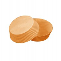 Oval brown silicone paper baking case  65x50mm H40mm