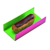 Double face pastry tray pink/green  130x45mm