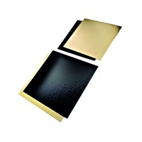 Rectangular double face card gold/black  200x300mm