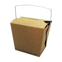 Kraft cardboard biodegradable pail box with handle 750ml 100x92mm H104mm