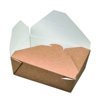"""Nature"" biodegradable kraft meal box 800ml 140x100mm H50mm"