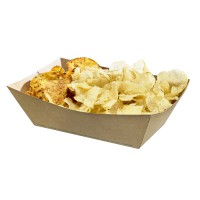 Natural greaseproof kraft tray 1200ml 235x160mm H70mm